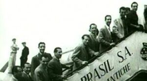 La partenza da Lisbona