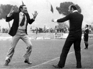 Rozzi e Mazzone festeggiano una vittoria dell'Ascoli