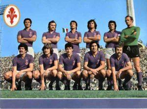 Una formazione titolare della Fiorentina 1975-1976