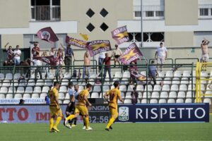 I tifosi del Cittadella a Vercelli
