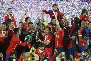 I grandi festeggiamenti per la vittoria in Copa América