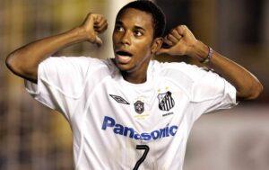 Robinho ai tempi del Santos