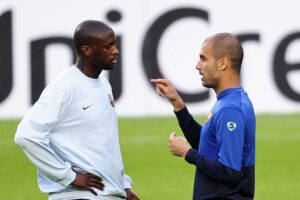 Guardiola e Yaya Touré