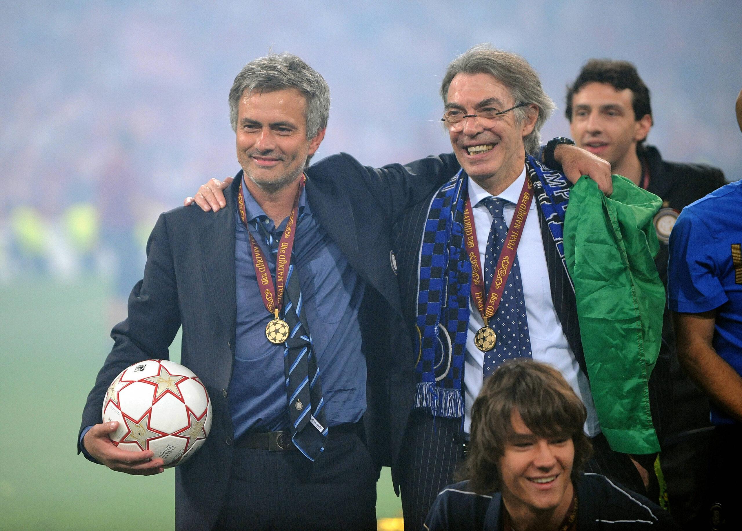 Moratti e Mourinho