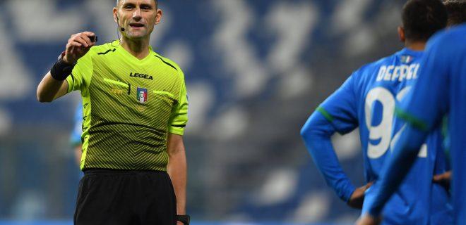 Eugenio AbbattistaReferee during the Italian Serie A match between Sassuolo 0-0 Udinese at Mapei Stadium on November 2 , 2020 in Reggio Emilia, Italy. Noxthirdxpartyxsales PUBLICATIONxNOTxINxJPN 147818667